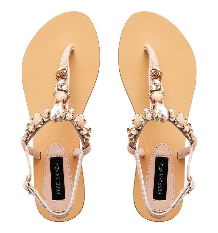 Davy Embellished Sandal - Forever New | thebeautyspotqld.com.au