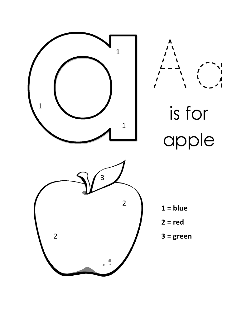 Lowercase Alphabet Color By Number Alphabet coloring