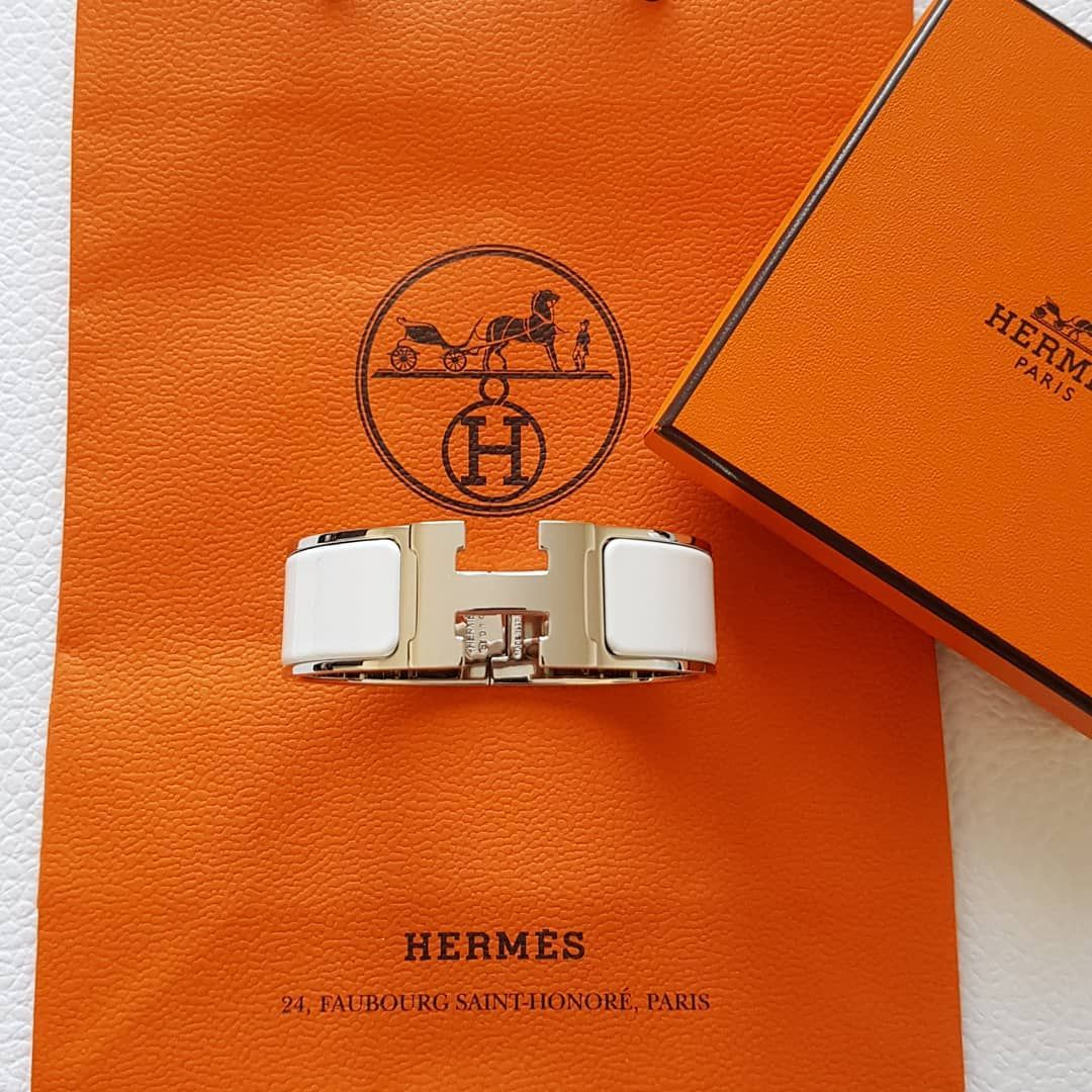 "Comment Choisir Un Clic Clac catharinelv33 on instagram: ""hermes clic clac in white and"