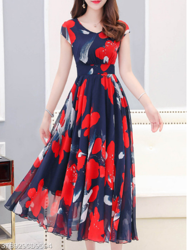 cf2947942a ... Sweet Heart Dress silhouette  Empire Line Material  Chiffon Occasion   Basic Casual Package included  Dress 1 Pattern type  Floral Printed Season   Autumn ...