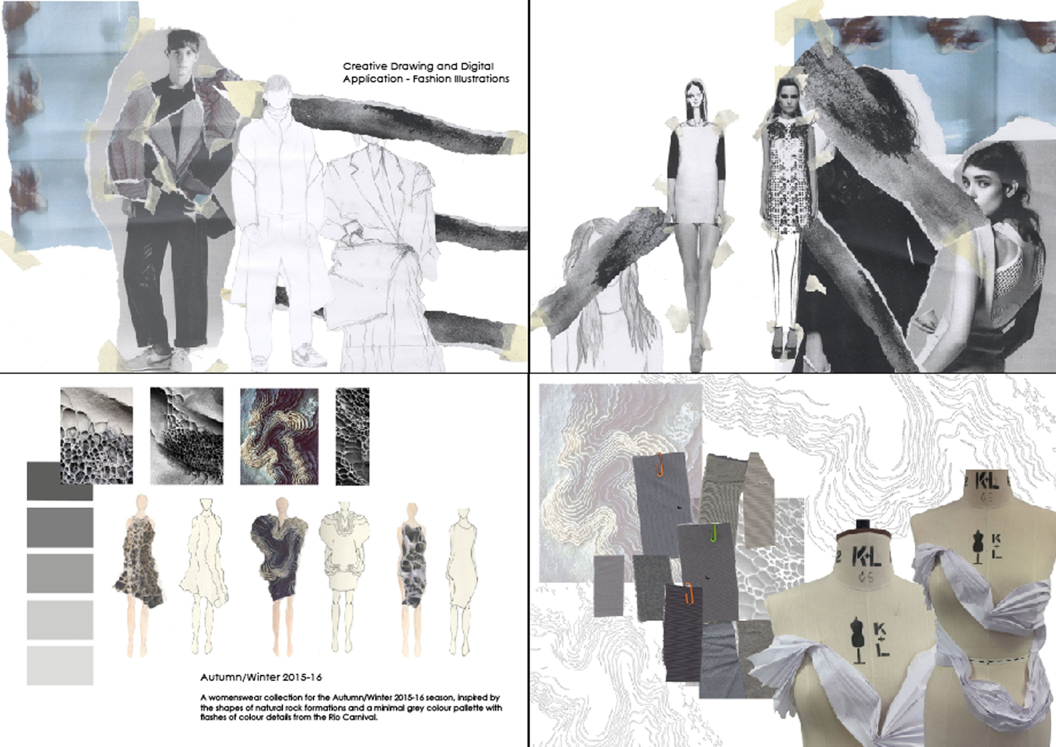 digital fashion folio pages - Google Search
