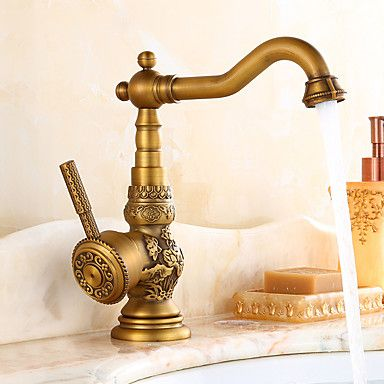 Antique Bar Prep Deck Mounted Rotatable With Ceramic Valve Single Handle One Hole For Antique Brass Ki Kitchen Faucet Antique Brass Kitchen Faucet Sink Faucets