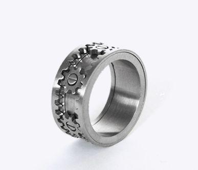 Kinekt Design fidget ring gears actually move in unison when the