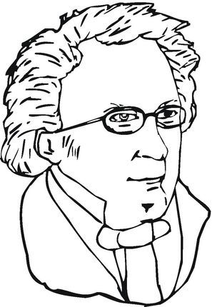 Franz Schubert Coloring Page Music Appreciation Elementary Music