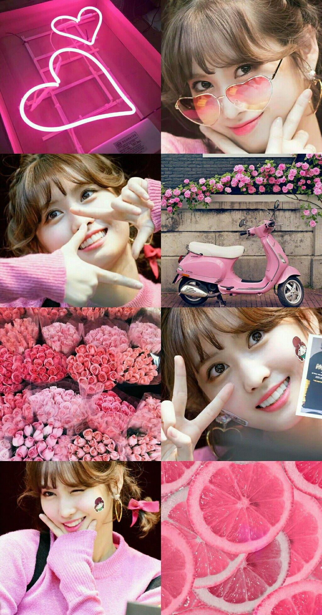 Momo Twice Pink Aesthetic Pink Aesthetic Pink Twice