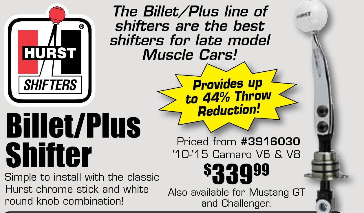 Hurst Billet Plus Shifters Starting From 339.99 EA. The