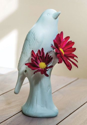 A Wing of Beauty Vase. Let your decor soar to adorable new heights when you place a freshly cut bouquet in this ceramic vase and set it on your bedroom windowsill or kitchen table! #blueNaN
