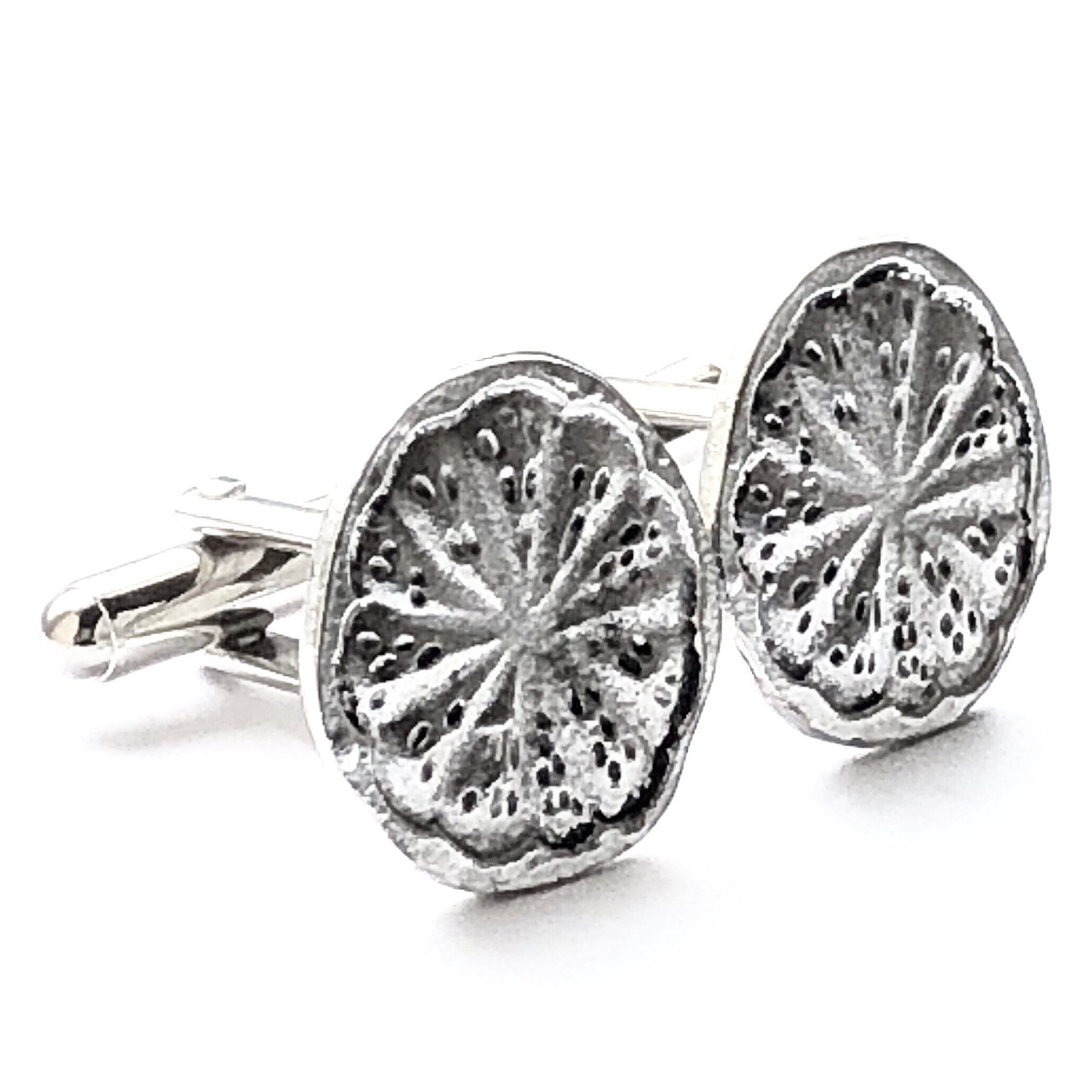 Silver Tree of Life Cufflinks & Tie Tack Mens Handcrafted
