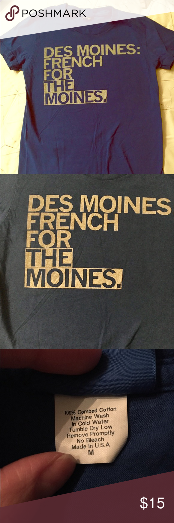 Des Moines French for the Moines tshirt Des Moines French for the Moines fitted tshirt Tops Tees - Short Sleeve | T shirt. Workout tshirts. Des moines