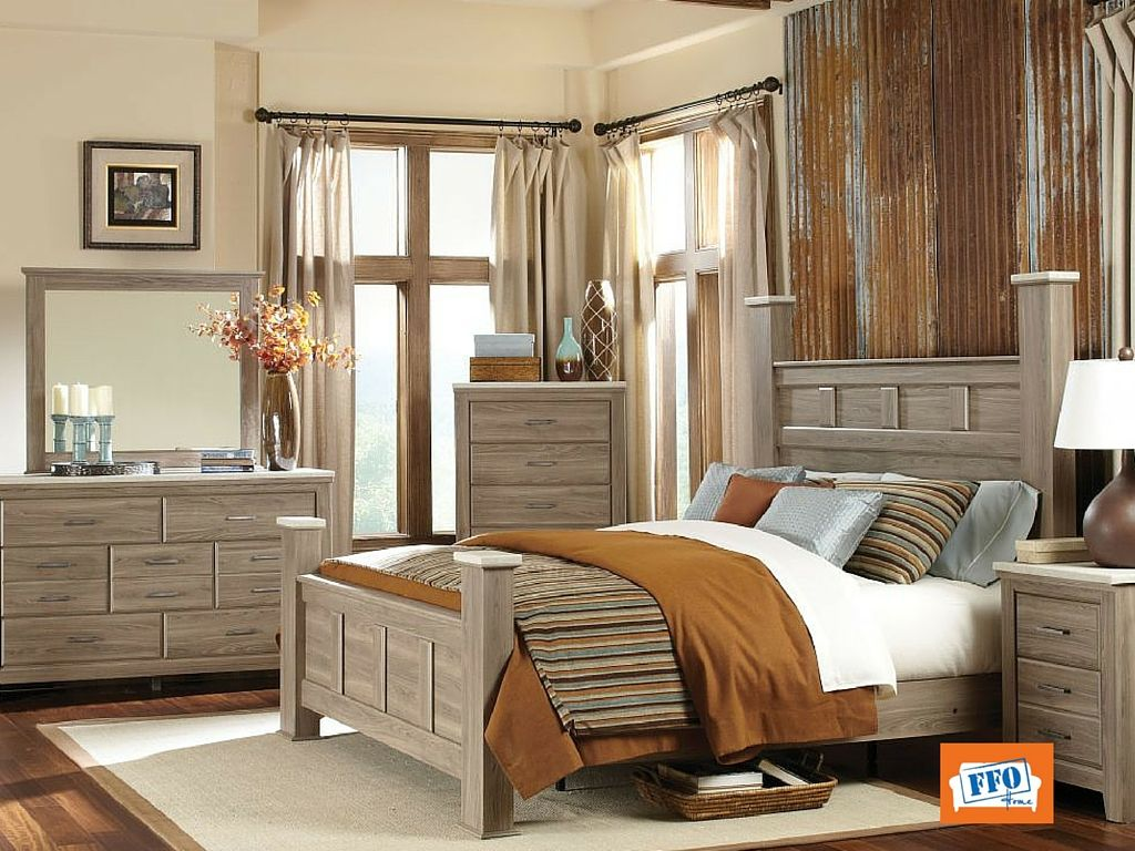 This 5 piece bedroom set is the contemporary style you\'ve ...