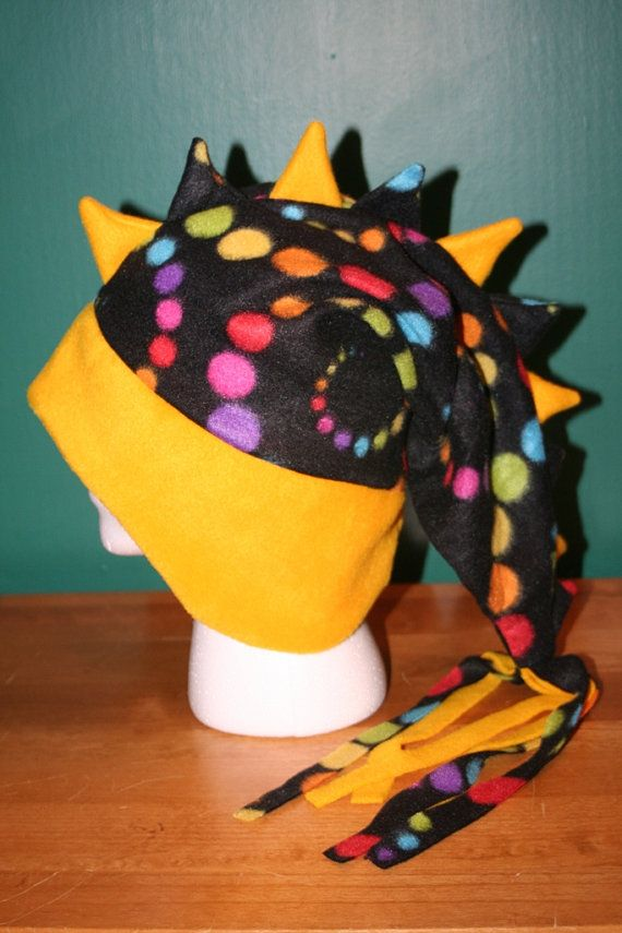 Yellow Polka Dot Rainbow Disco Ball Dragon by thelopsidedfrog, $20.00