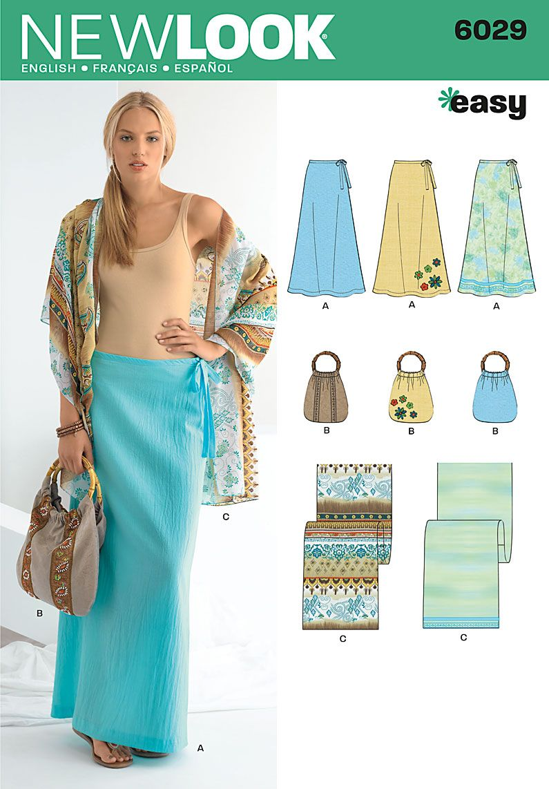 Simplicity : new look 6029. easy maxi skirt. | Sewing | Pinterest