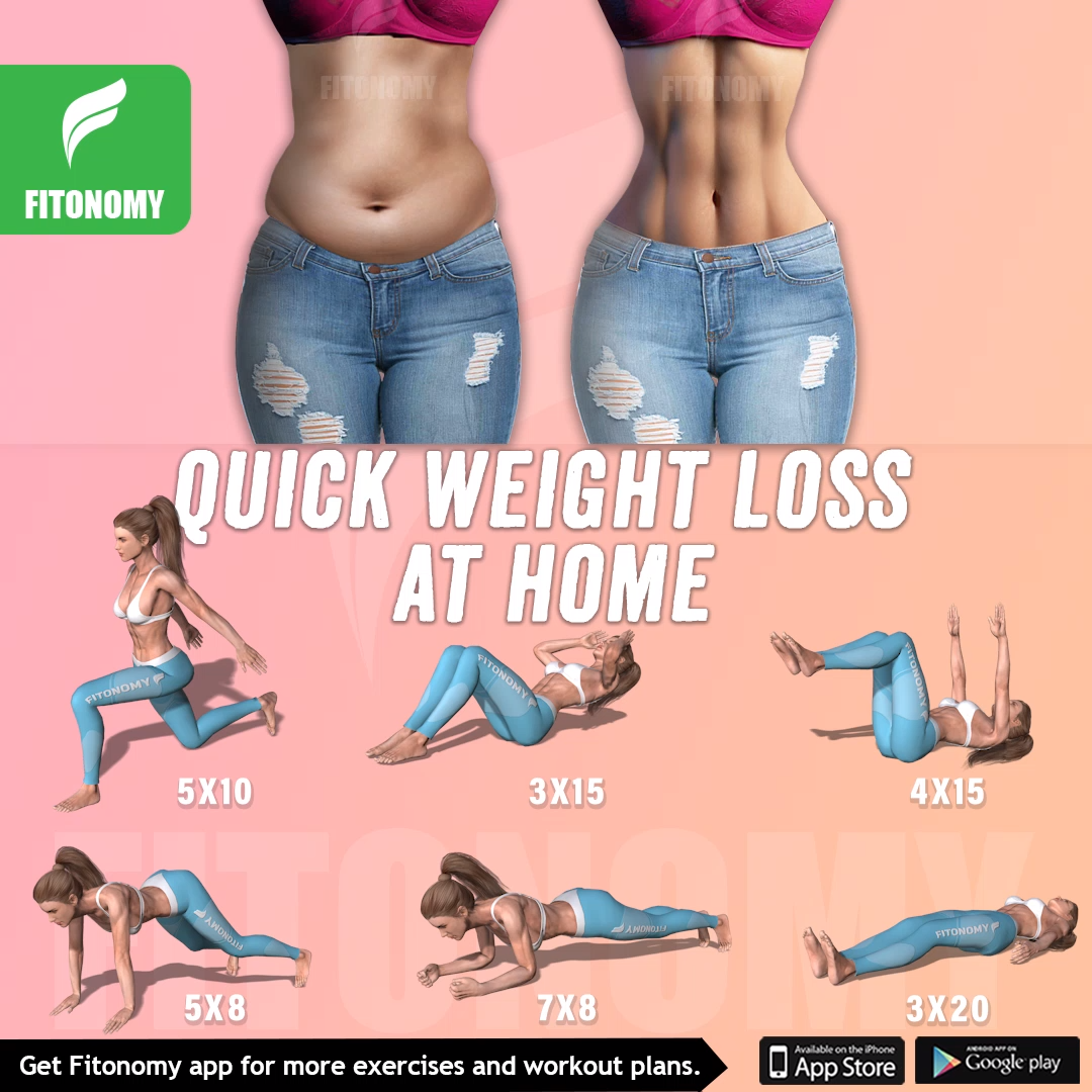 Quick weight loss at home #fitnessexercisesathome