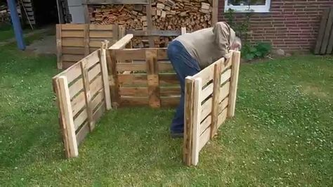 Video komposter aus europaletten selber bauen so geht 39 s for Europaletten sitzlounge