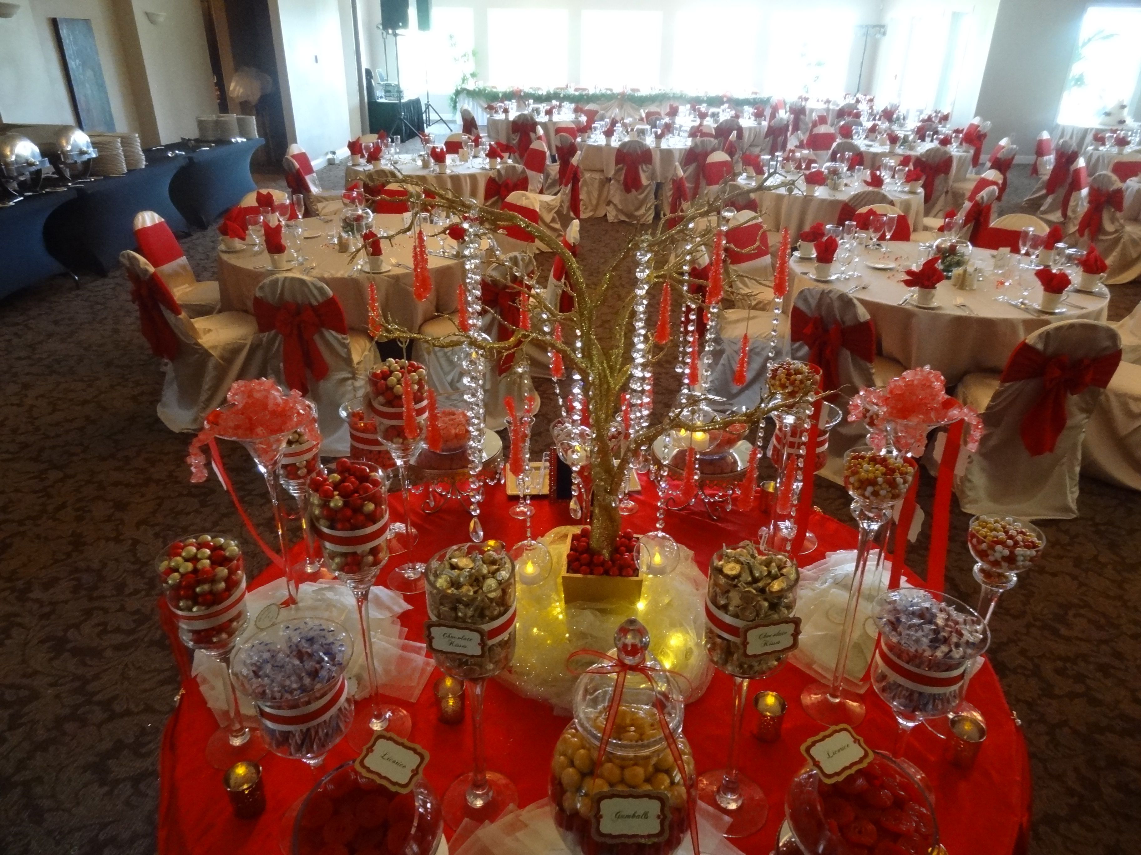 Red And Gold Candy Buffet Gold Candy Buffet Baby Shower Princess Gold Candy