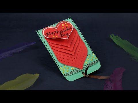 Craft Tutorial to make Paper Rainbow Heart waterfall card