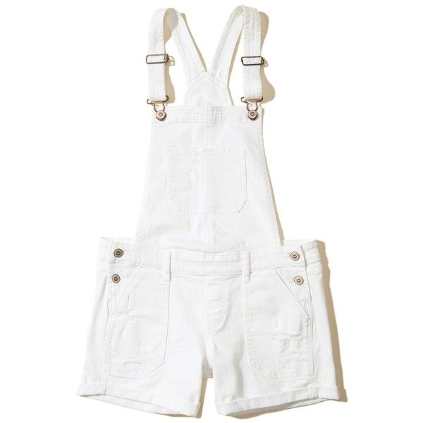 613865e0a30 Hollister Denim Short Overalls ( 50) ❤ liked on Polyvore featuring jumpsuits