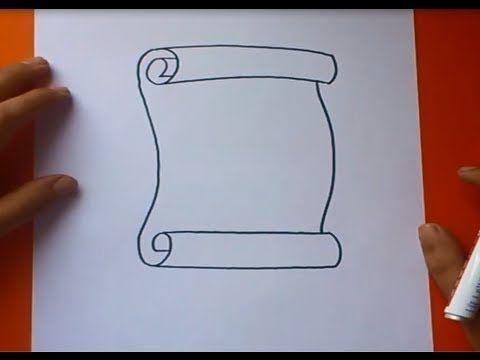 Como Dibujar Un Pergamino Paso A Paso How To Draw A Scroll Como Dibujar Un Libro Pergamino Dibujo Pergamino