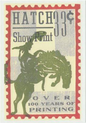 4x6 Hatch Show Print postcard