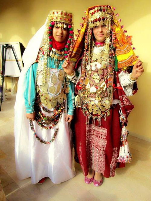 Traditional Dress Of Tunisia Intricate Embroidered Patterns And