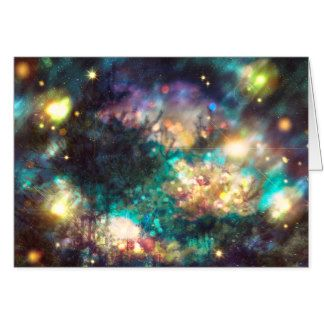 Fantasy Starry Forest 5 Card