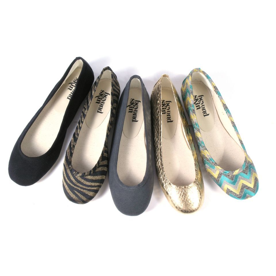 Beyond Skin Vegan Flat shoes - Sole trim - grey faux suede - Essentials - Vegan Shoes, Vegetarian Shoes, Ethical and Stylish Footwear - Beyond Skin