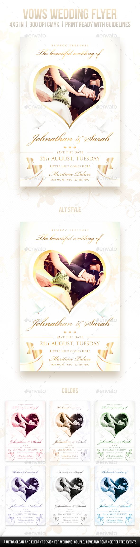Vows #wedding #flyer - Miscellaneous Events