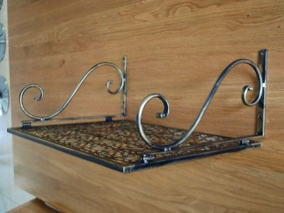 Iron Wall Mount Microwave Shelf Stand
