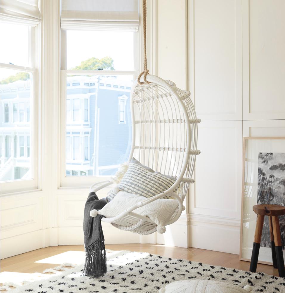 Hanging Rattan Chair In 2021 Hanging Rattan Chair Hanging Swing Chair Swinging Chair