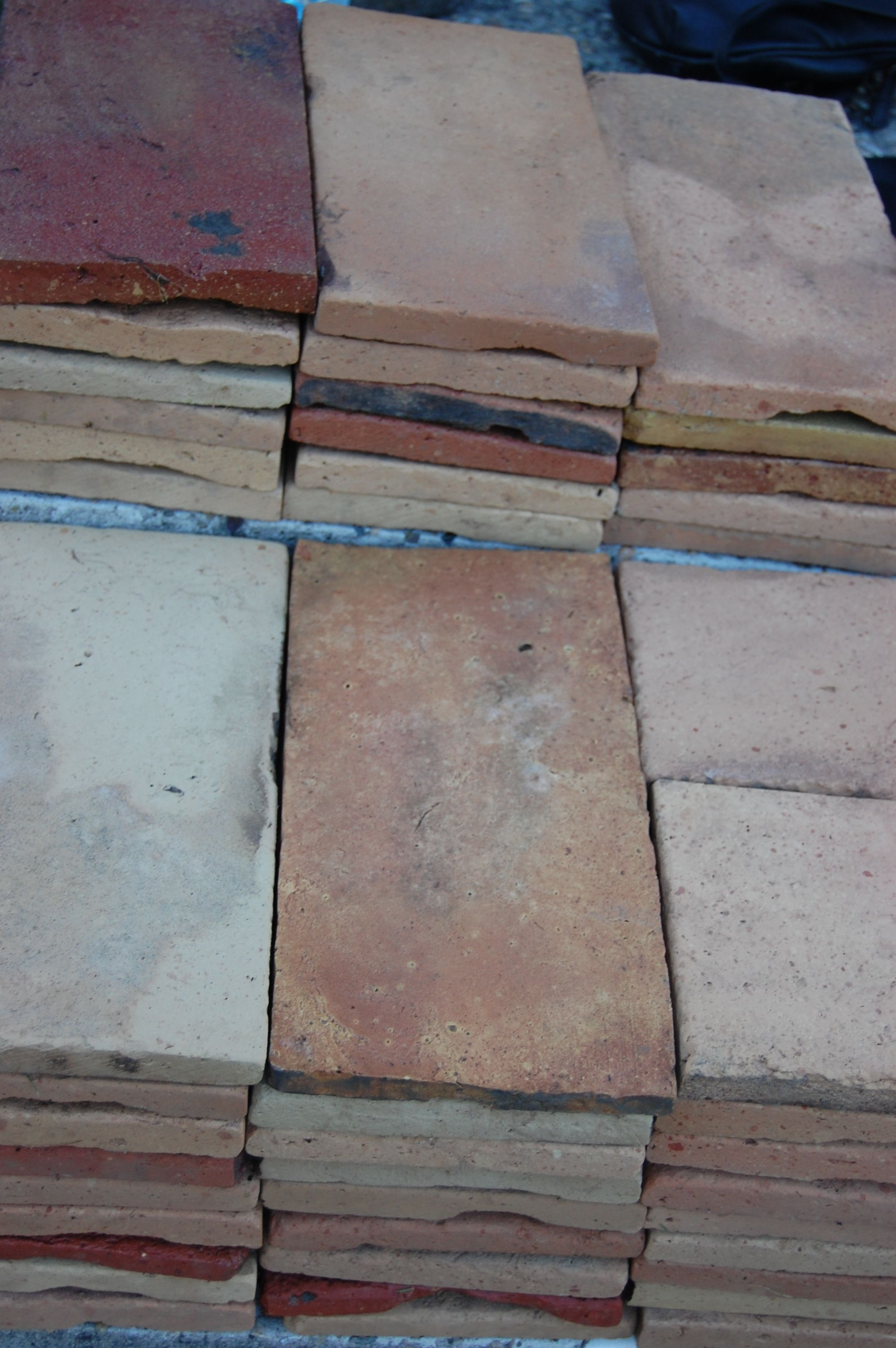 Antique terracotta floor tiles salvaged from the roofs of old antique terracotta floor tiles salvaged from the roofs of old farmhouses antique terracotta dailygadgetfo Choice Image