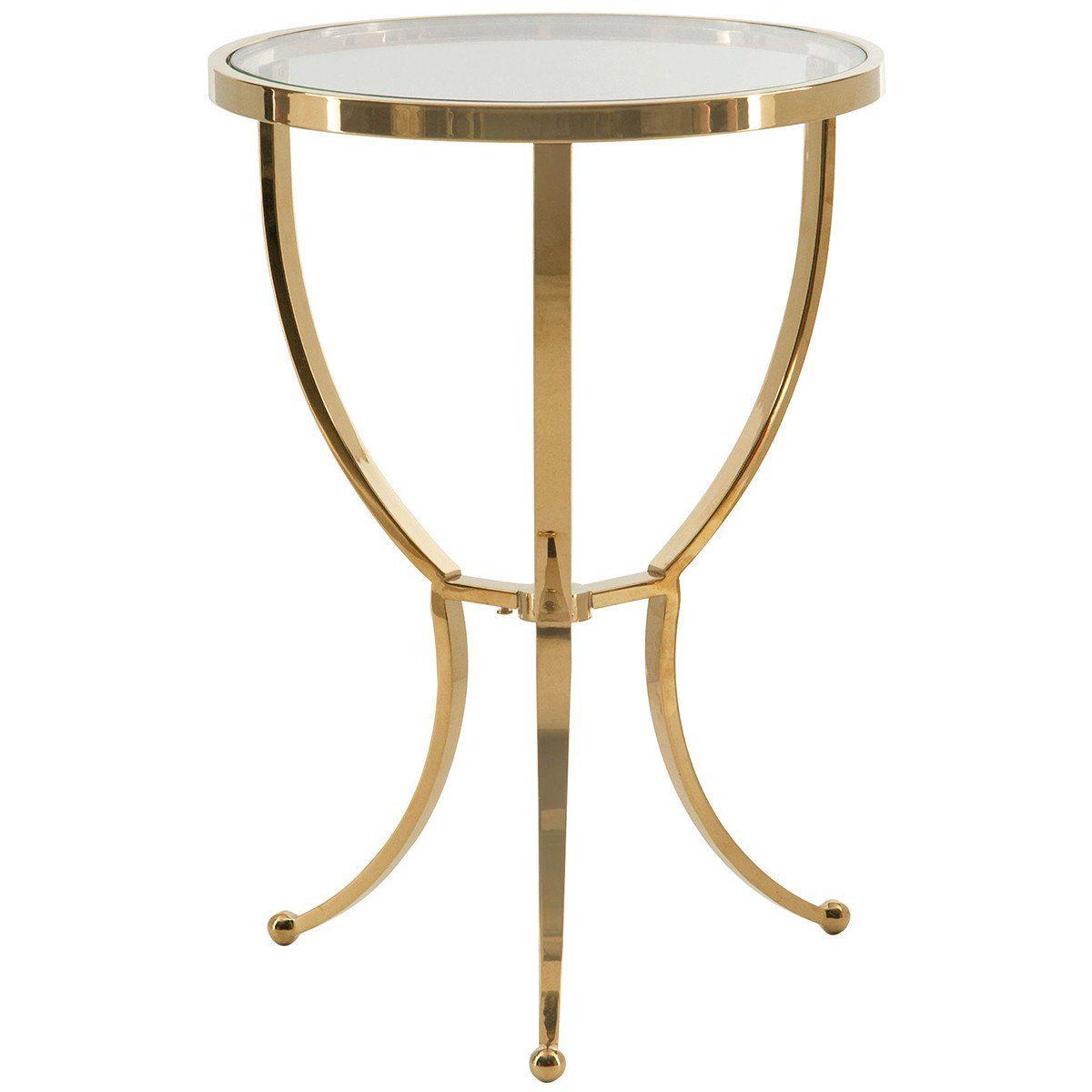 Best Bernhardt Interiors Adella Round Chairside Table Details 400 x 300