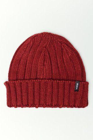 8f68d0ea5 RVCA Clothing Shoreman Beanie Dark Red #style #men #fashion | RVCA ...