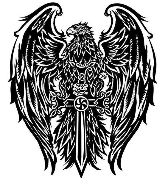 Tattoo Aguila Diseno Buscar Con Google Tatuajes Aguilas Tatuajes De Alas Dibujos Tribales