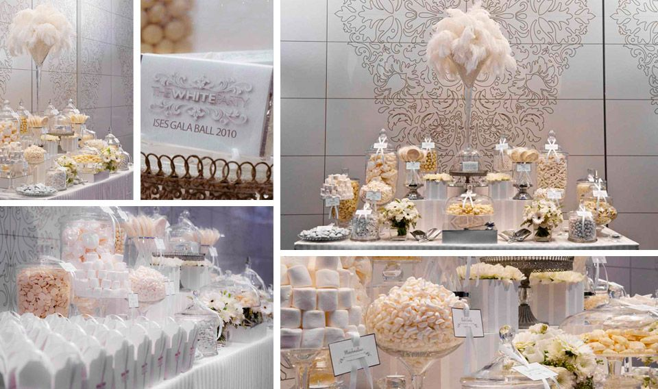 Southern Blue Celebrations: White / Cream / Ivory Wedding Candy U0026 Dessert  Tables