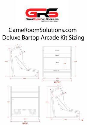 bartop arcade kit deluxe game room solutions bartop arcade