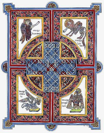 Illuminated manuscript book of kells