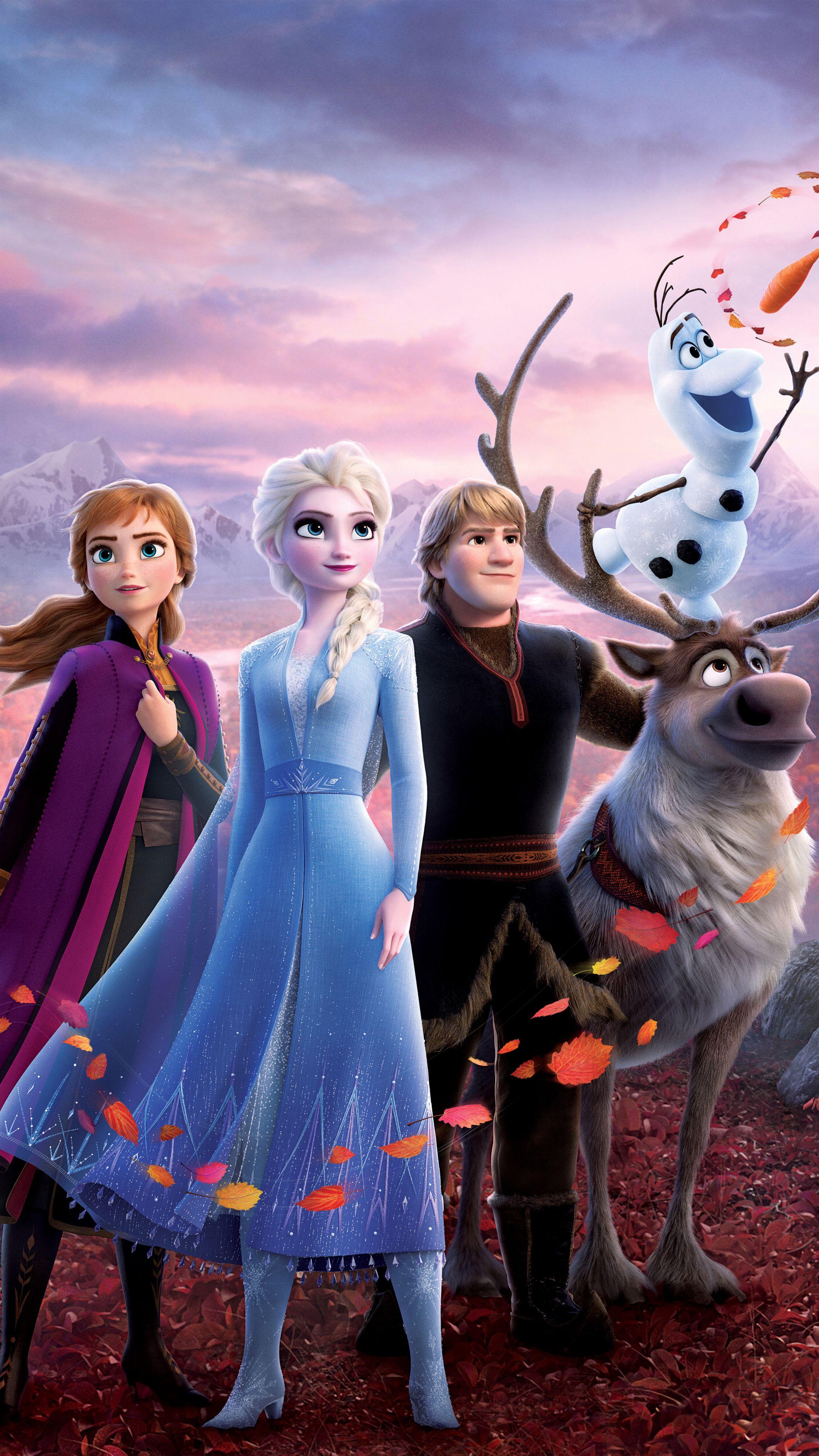 Download 2160x3840 Wallpaper Movie Disney S Animation Movie Frozen 2 Sisters 4k Sony Desenhos De Princesa Da Disney Disney Posteres De Filmes Disney Fofa