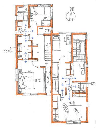 サニタリースペースの配置を考える 間取り 住宅 間取り 平面図