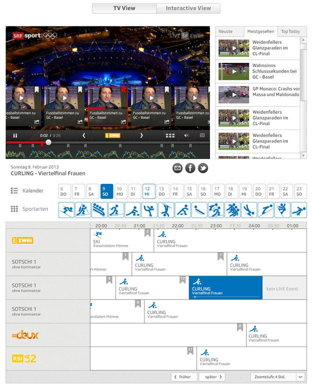SRF will launch a dedicated #Sochi2014 multiscreen player #srfsotschi