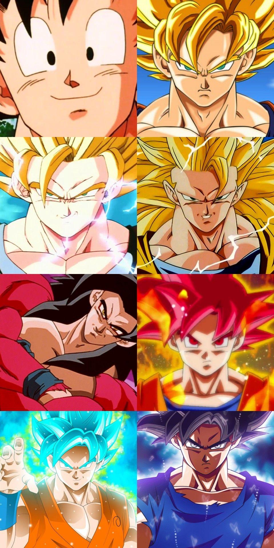 Todas Sus Transformaciones Dragon Ball Z Dragon Ball Artwork Dragon Ball Art