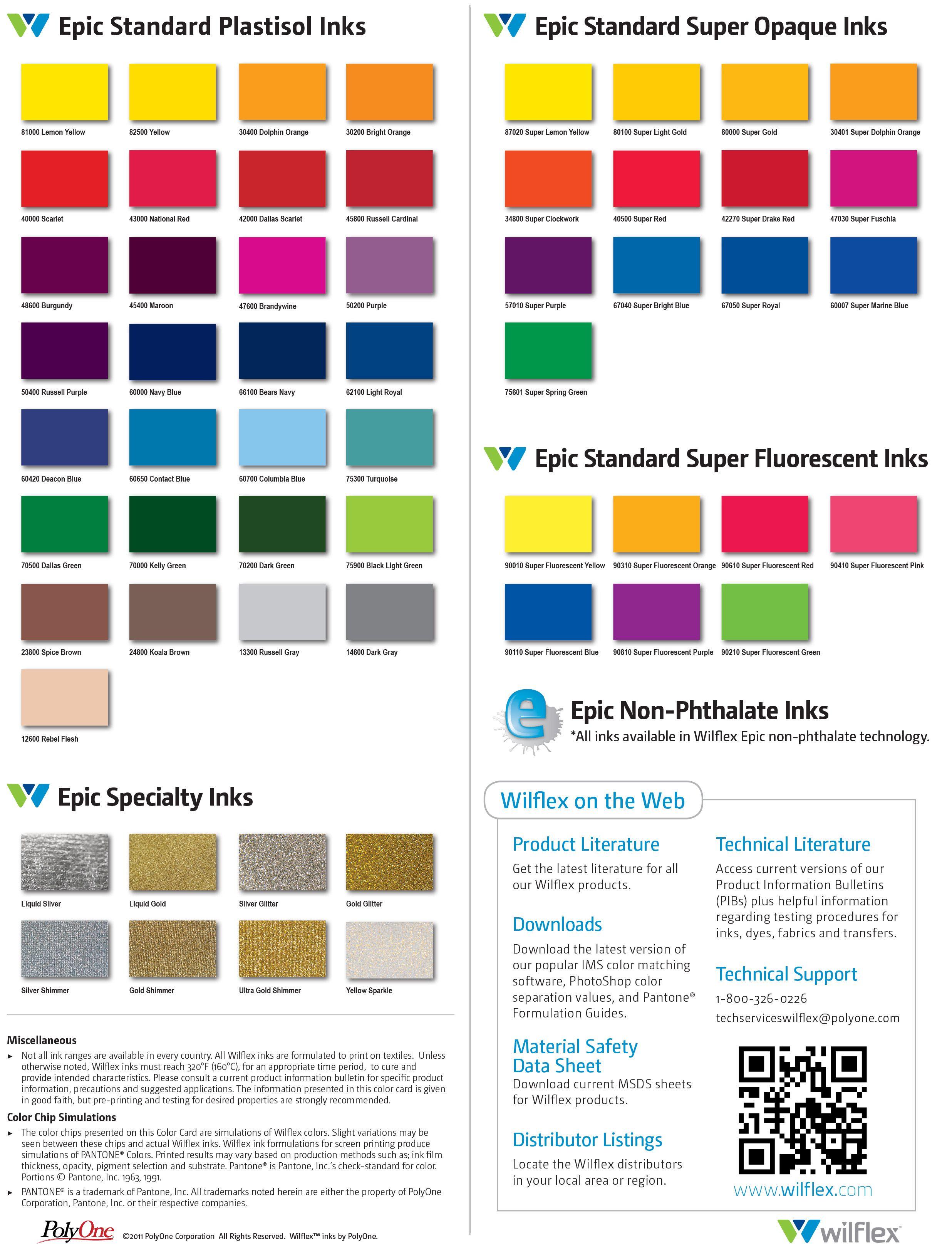 Wilflex epic plastisols open more information rio colour also image result for plastisol inks pinterest rh