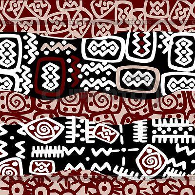 Ethnic stylized motifs, background pattern   벡터 클립 아트   ID 4489552