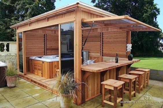 Would it look right to put an outdoor kitchen under screened pool?