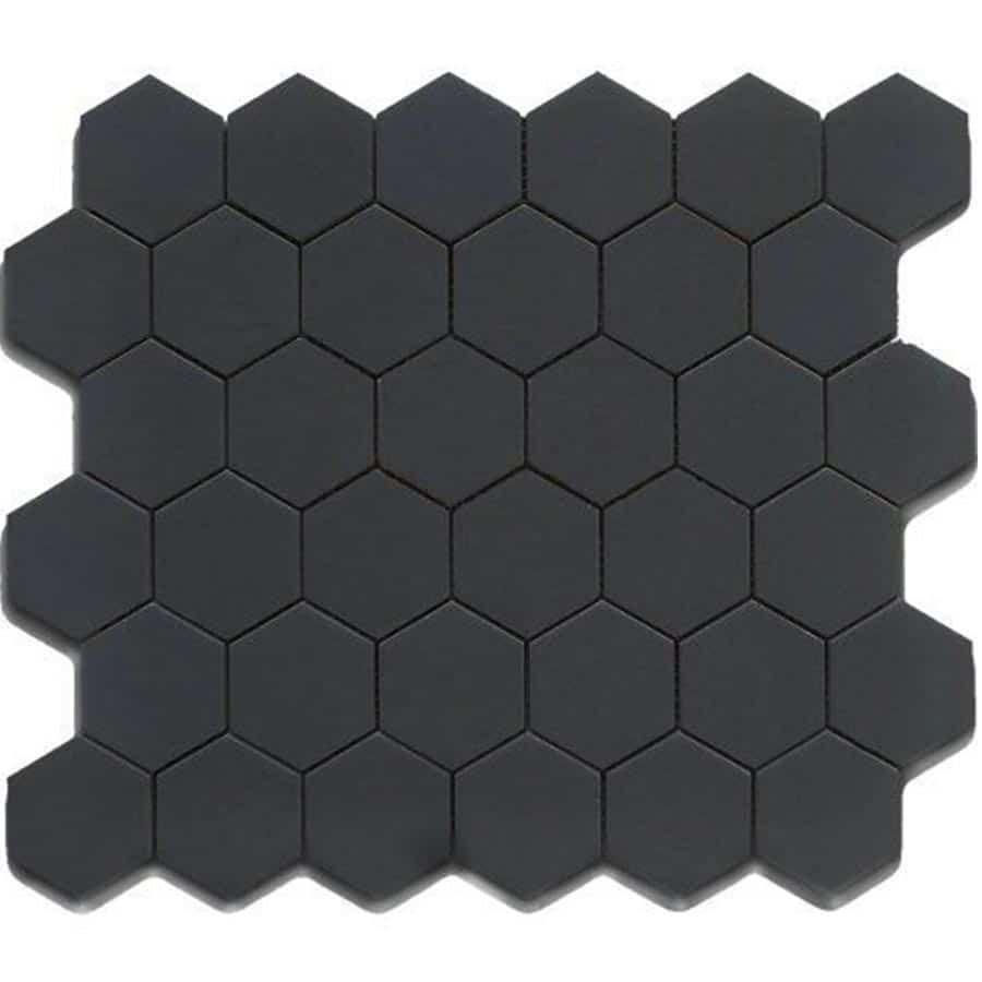 Geometry Collection 2 Hexagonal Mosaic Ceramic Floor Hexagon Tile Floor