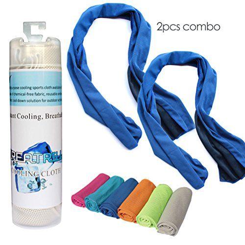 Creatrill 2 Pcs Cooling Towel Combo 40 Long Instant Cooling Towel