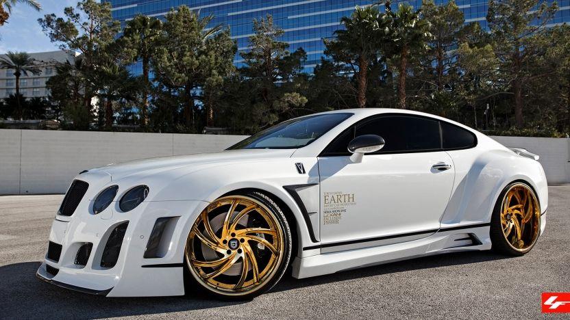 "Bentley GT on 22"" Gold LF-744 Lexani Wheels"
