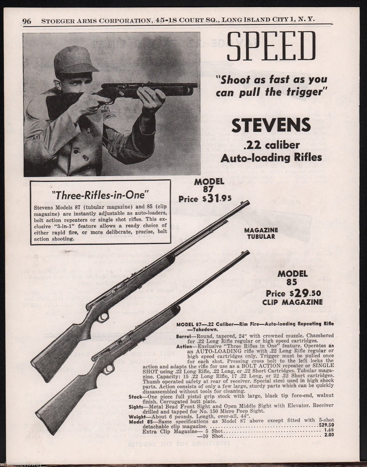 Savage Stevens model 6J Stevens 87N ONE hammer