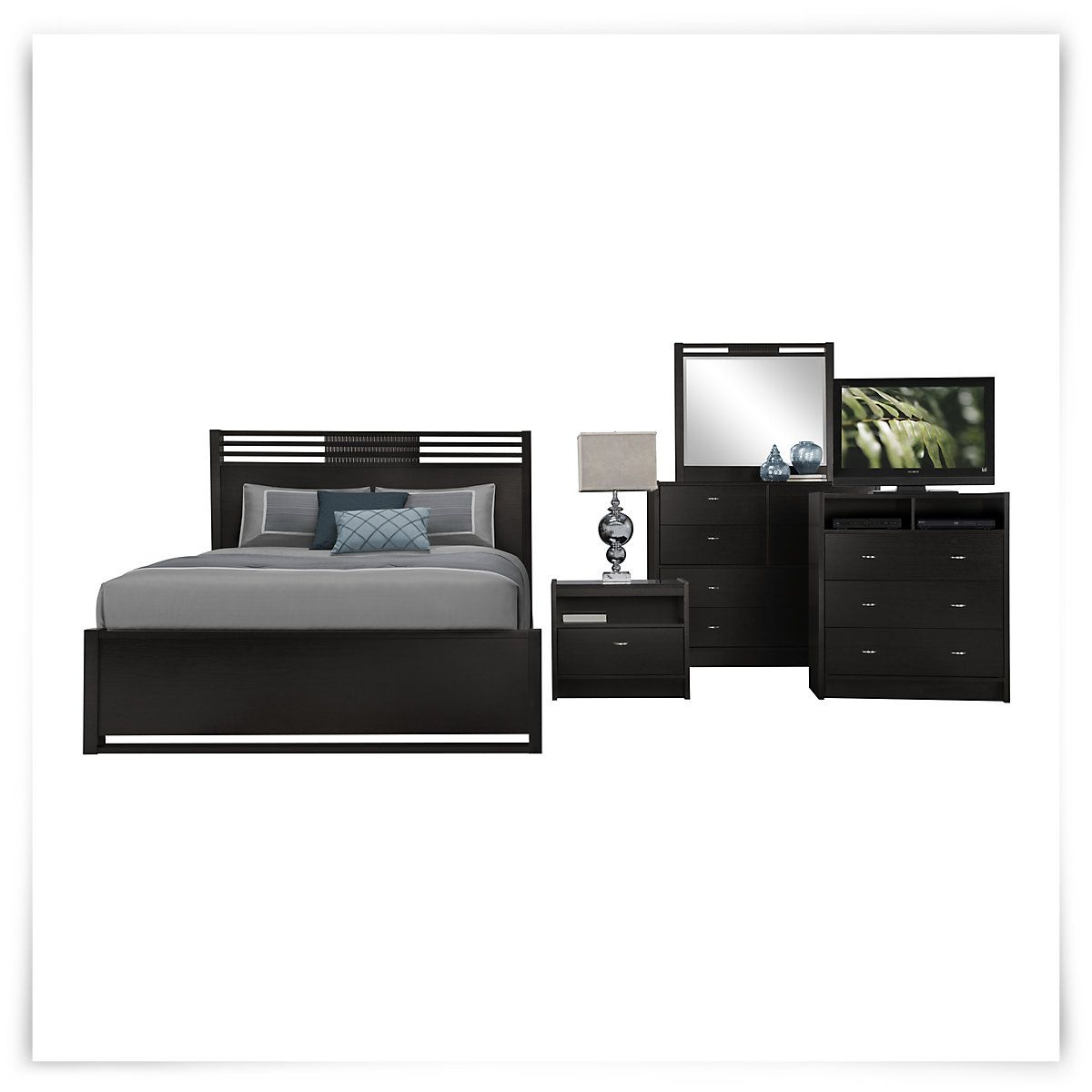 Bed includes: Headboard, footboard, and rails Add warmth and ...