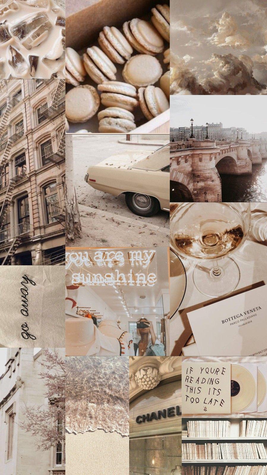 Beige Aesthetic Wallpaper Collage