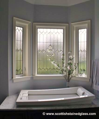 Stained Gl Bathroom Windows With